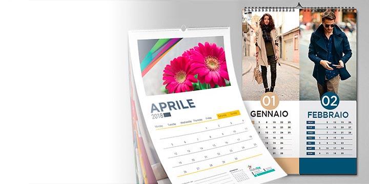 Calendario Parete.Stampa Calendari Personalizzati Da Parete Online Multigrafica